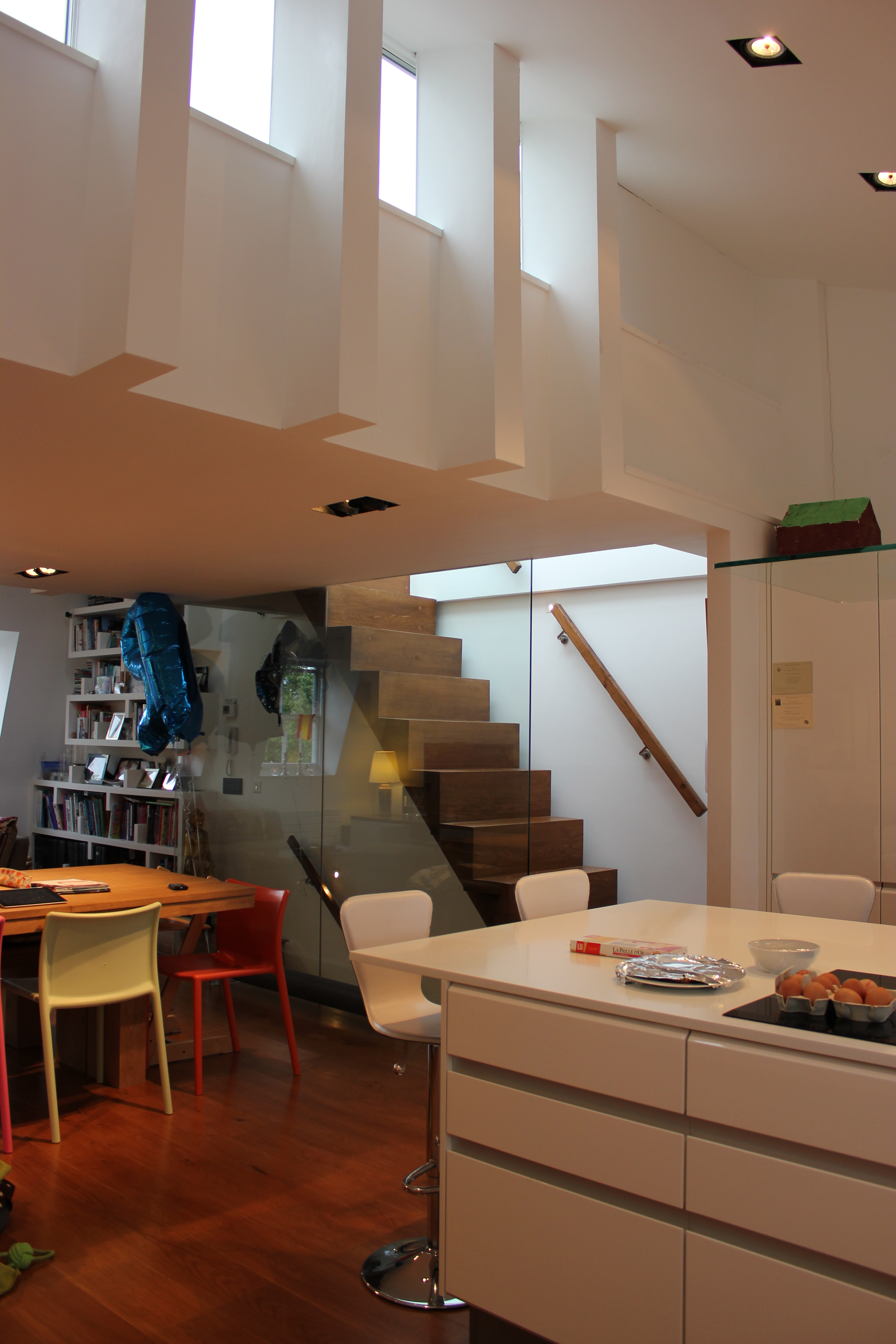 View from kitchen towards staircase