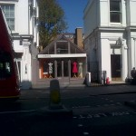 A very small boutique on Fulham Road sandwiched between buildings