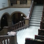 BAC looking down on staircase