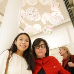 With interior designer Marina Chan who painted some of these lanterns