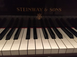 the very beautiful steinway up close