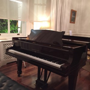 steinway in bay window